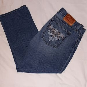 Lucky Brand Dream Crest Cuffed Crop Jeans 12/31 US